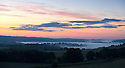 24/08/14 <br /> <br /> Low cloud clings to the lowest points of the Derbyshire counrtyside near Tissington before dawn after a cold night in the Peak District <br /> <br /> All Rights Reserved: F Stop Press Ltd. +44(0)1335 300098   www.fstoppress.com.