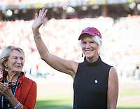 Stanford, CA - September 21, 2019: Susan Hagy Wall at Stanford Stadium. The Stanford Cardinal fell to the Oregon Ducks 21-6.