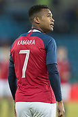 23rd March 2018, Ullevaal Stadion, Oslo, Norway; International Football Friendly, Norway versus Australia; Ola Kamara of Norway looks up at the replay screen
