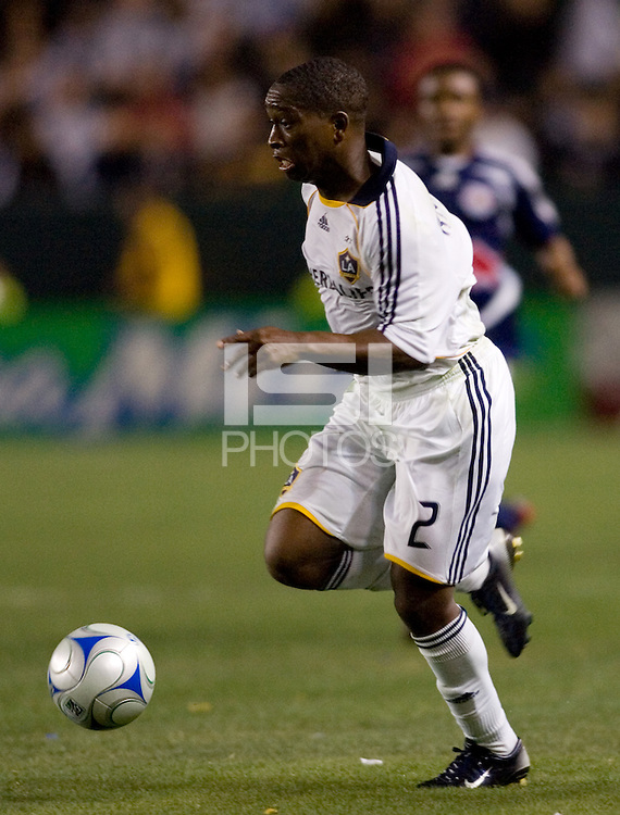 LA Galaxy midfielder Mike Randolph (2) during a MLS match. The New York Red Bulls defeated the LA Galaxy 2-1 at Home Depot Center Stadium, in Carson, Calif., on Saturday, May 10, 2008.