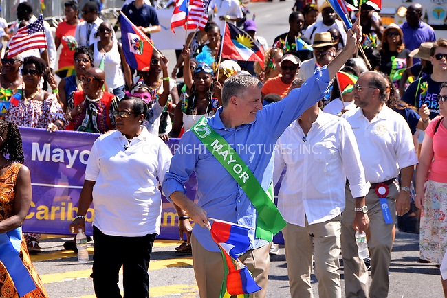 WWW.ACEPIXS.COM<br /> <br /> September 7 2015, New York City<br /> <br /> New York City Mayor Bill de Blasio attends the 2015 West Indian Day Parade on September 7 2015 in New York City<br /> <br /> <br /> By Line: Curtis Means/ACE Pictures<br /> <br /> <br /> ACE Pictures, Inc.<br /> tel: 646 769 0430<br /> Email: info@acepixs.com<br /> www.acepixs.com