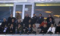 Fussball 2. Bundesliga:  Saison   2012/2013,    16. Spieltag  TSV 1860 Muenchen - SC Paderborn  27.11.2012 Auf der Tribuene in der Allianz Arena (oberste Reihe 3 v. li.)  Trainer Sven Goeran Eriksson, Statthalter Hamada Iraki, Geschaeftsfuehrer Robert Schaefer (TSV 1860)