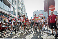 stage 3 start line<br /> <br /> 12th Eneco Tour 2016 (UCI World Tour)<br /> stage 3: Blankenberge-Ardooie (182km)