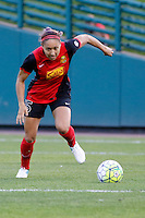 Rochester, NY - Saturday July 09, 2016: Western New York Flash defender Jaelene Hinkle (15) during a regular season National Women's Soccer League (NWSL) match between the Western New York Flash and the Seattle Reign FC at Frontier Field.