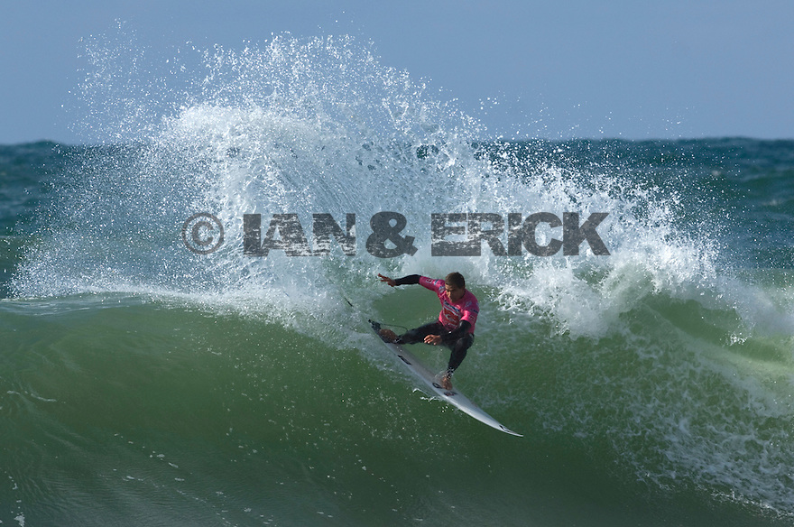 Australian Dean Morrisson at the Quiksilver Pro in Hossegor, France.