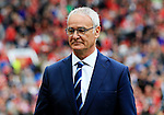 Leicester City manager Claudio Ranieri  during the Premier League match at Old Trafford Stadium, Manchester. Picture date: September 24th, 2016. Pic Sportimage