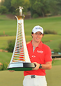 World number one, Rory McIlroy (NIR) wins 2012 Race to Dubai and is crowned the 2012 DP World Tour Champion with a score of 23 under par: The 2012 DP World Tour Championship was played over the Earth Course, Jumeirah Golf Estates, Dubai, United Arab Emirates 22nd to 25th November 2012: Picture Stuart Adams www.golftourimages.com: 25th November 2012