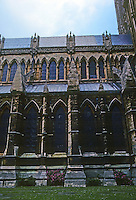 Lincoln: Lincoln Cathedral--Elevation, Nave. Photo '90.