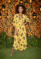PACIFIC PALISADES, CA - OCTOBER 06: Melanie Liburd arrives at the 9th Annual Veuve Clicquot Polo Classic Los Angeles at Will Rogers State Historic Park on October 6, 2018 in Pacific Palisades, California.<br /> CAP/ROT/TM<br /> &copy;TM/ROT/Capital Pictures