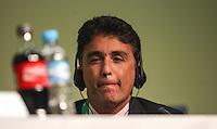 ATENCAIO EDITOR FOTO EMBARGADA PARA VEICULO INTERNACIONAL - SAO PAULO, SP, 28 DE NOVEMBRO 2012 - COLETIVA FIFA - ex jogador Bebeto durante coletiva da FIFA edo Comitê Organizador da Copa do Mundo (COL) na tarde desta quarta-feira, 28 na regiao norte da capital paulista. FOTO: VANESSA CARVALHO BRAZIL PHOTO PRESS.