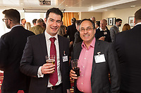 Pictured is Martin Dennis of Frank Shaw Associates and Sanjeev Sachdeva of MemSaab Restaurant