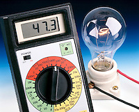 LIGHT BULB FILAMENT GLOWS DIMLY AT LOW VOLTAGE<br /> (1 of 2)<br /> About &frac12; Normal US Household Voltage<br /> The color &amp; intensity of light emitted by a hot object depends on the temperature of the object.