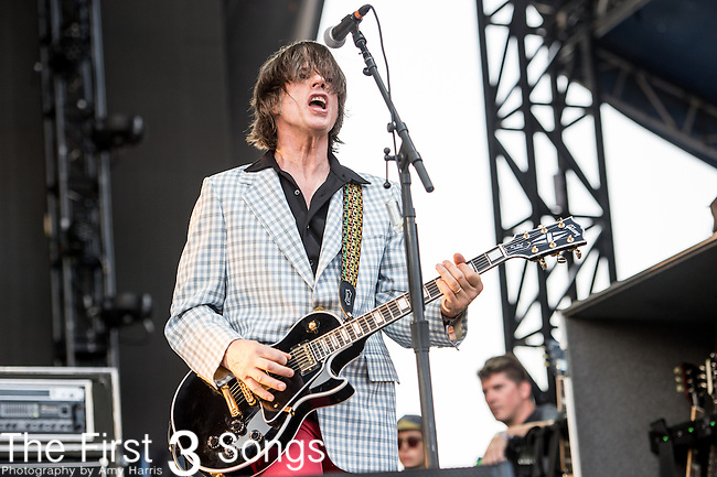 David Minehan of The Replacements perform during the Forecastle Music Festival at Waterfront Park in Louisville, Kentucky.