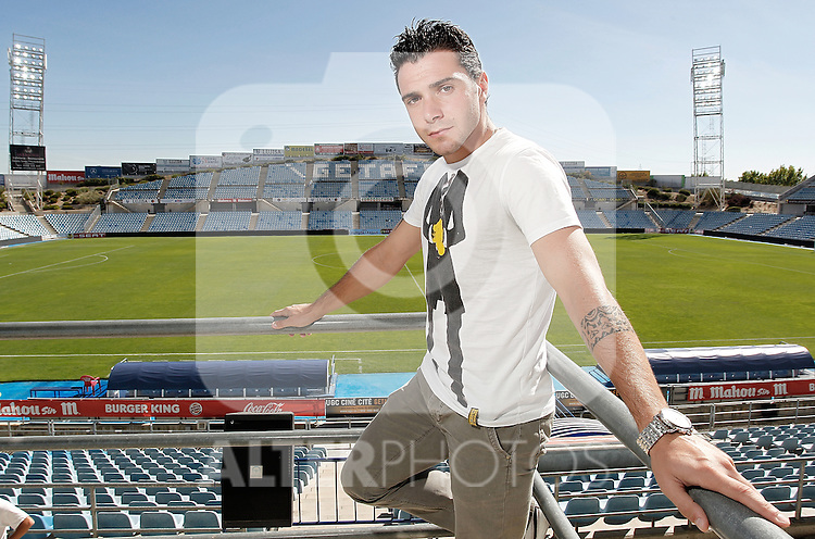 Getafe's Adrian Colunga during portrait session. September 14, 2010. (ALTERPHOTOS/Alvaro Hernandez)