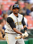 6 June 2007: Pittsburgh Pirates outfielder Rajai Davis takes warm up swings in the on-deck circle against the Washington Nationals at RFK Stadium in Washington, DC. The Nationals defeated the Pirates 6-5 in the second game of their 3-game series...Mandatory Credit: Ed Wolfstein Photo