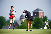 Belen Mozo (ESP) watches her putt on 15 during Thursday's first round of the 72nd U.S. Women's Open Championship, at Trump National Golf Club, Bedminster, New Jersey. 7/13/2017.<br /> Picture: Golffile | Ken Murray<br /> <br /> <br /> All photo usage must carry mandatory copyright credit (&copy; Golffile | Ken Murray)