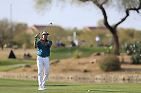 Bubba Watson (USA) on the 15th fairway during the 1st round of the Waste Management Phoenix Open, TPC Scottsdale, Scottsdale, Arisona, USA. 31/01/2019.<br /> Picture Fran Caffrey / Golffile.ie<br /> <br /> All photo usage must carry mandatory copyright credit (&copy; Golffile | Fran Caffrey)