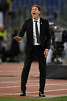 Rudi Garcia coach of Marseille reacts during the Uefa Europa League 2018/2019 football match between SS Lazio and Marseille at stadio Olimpico, Roma, November, 08, 2018 <br />  Foto Andrea Staccioli / Insidefoto