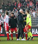 10.02.2018, Stadion an der Wuhlheide, Berlin, GER, 2.FBL, 1.FC UNION BERLIN  VS. Fortuna Duesseldorf, im Bild <br /> 3: 1 fuer Union jubel<br /> Cheftrainer (Head Coach) Andre Hofschneider(1.FC Union Berlin), Daniel Mesenhoeler (1.FC Union Berlin #1)<br /> <br />      <br /> Foto &copy; nordphoto / Engler