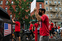 NEW YORK, NEW YORK - SEPTEMBER 31: People take part in a march to protest for safe re-opening schools during the COVID-19 pandemic on September 1, 2020 in New York.  NYC Mayor Bill de Blasio announced that school system will delay in-person instructions by at least 11 days to allow extra time to prepare to meet students amid the coronavirus pandemic.. (Photo by Eduardo MunozAlvarez/VIEWpress via GettyImages)