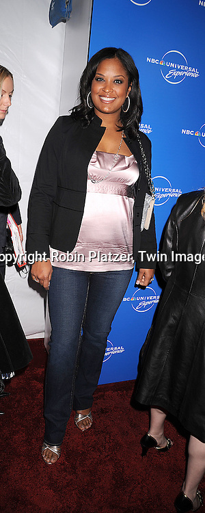 Laila Ali ..posing for photographers at The NBC Universal Upfront Announcement of their Fall 2008-2009 schedule on ..May 12, 2008 at Rockefeller Center. Stars from NBC, USA, Bravo, Scifi, Oxygen, Telemundo and mun2 were there. ....Robin Platzer, Twin Images