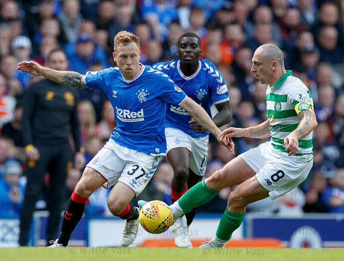 01.09.2019 Rangers v Celtic: Scott Arfield and Scott Brown