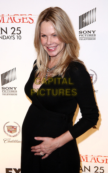 "ANDREA ROTH.Season 3 Premiere of ""Damages"" held at the AXA Equitable Center, New York, NY, USA..January 19th, 2010.half length black dress pregnant .CAP/ADM/PZ.©Paul Zimmerman/AdMedia/Capital Pictures."