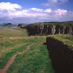 AWY7BA Steel Rigg Hadrians Wall England