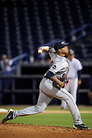 Lakeland Flying Tigers relief pitcher Jairo Labourt (47) delivers a pitch during a game against the Tampa Yankees on April 7, 2017 at George M. Steinbrenner Field in Tampa, Florida.  Lakeland defeated Tampa 5-0.  (Mike Janes/Four Seam Images)