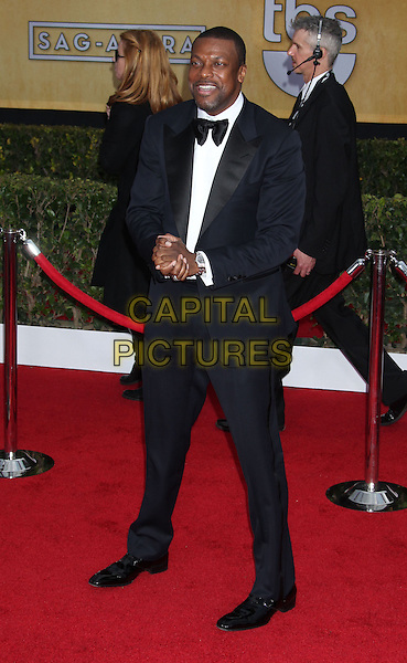 Chris Tucker.Arrivals at the 19th Annual Screen Actors Guild Awards at the Shrine Auditorium in Los Angeles, California, USA..27th January 2013.SAG SAGs full length black white bow tie tuxedo goatee facial hair hands .CAP/ADM/RE.©Russ Elliot/AdMedia/Capital Pictures.