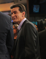 NEW YORK, NY - JANUARY 16: Charlie Sheen on Good Morning America. New York City. January 16, 2013. Credit: RW/MediaPunch Inc. /NortePhoto
