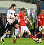 Jacek Krzynowek, Torsten Frings, Euro 2008. Germany-Poland in Klagenfurt (Austria) 06082008.