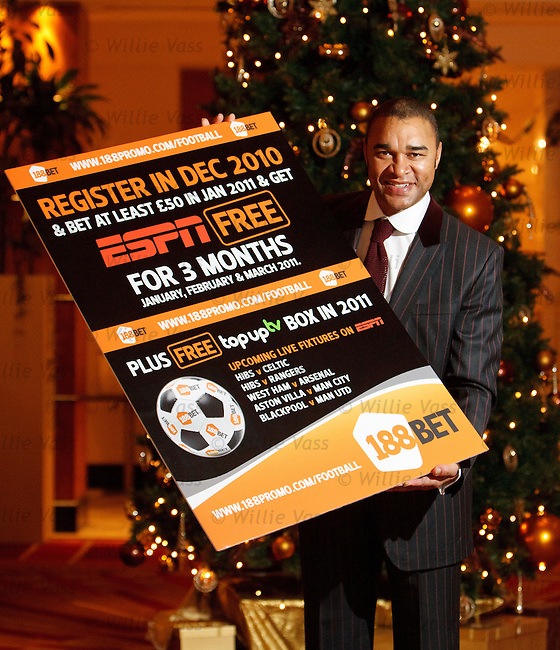 Paul Elliott promotes ESPN's tie up with 188 Bet at the Hilton Hotel, Glasgow