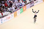 Yumi Kajihara (JPN), <br /> AUGUST 29, 2018 - Cycling - Track : <br /> Women's Omnium elimination race 3/4 <br /> at Jakarta International Velodrome <br /> during the 2018 Jakarta Palembang Asian Games <br /> in Jakarta, Indonesia. <br /> (Photo by Naoki Nishimura/AFLO SPORT)