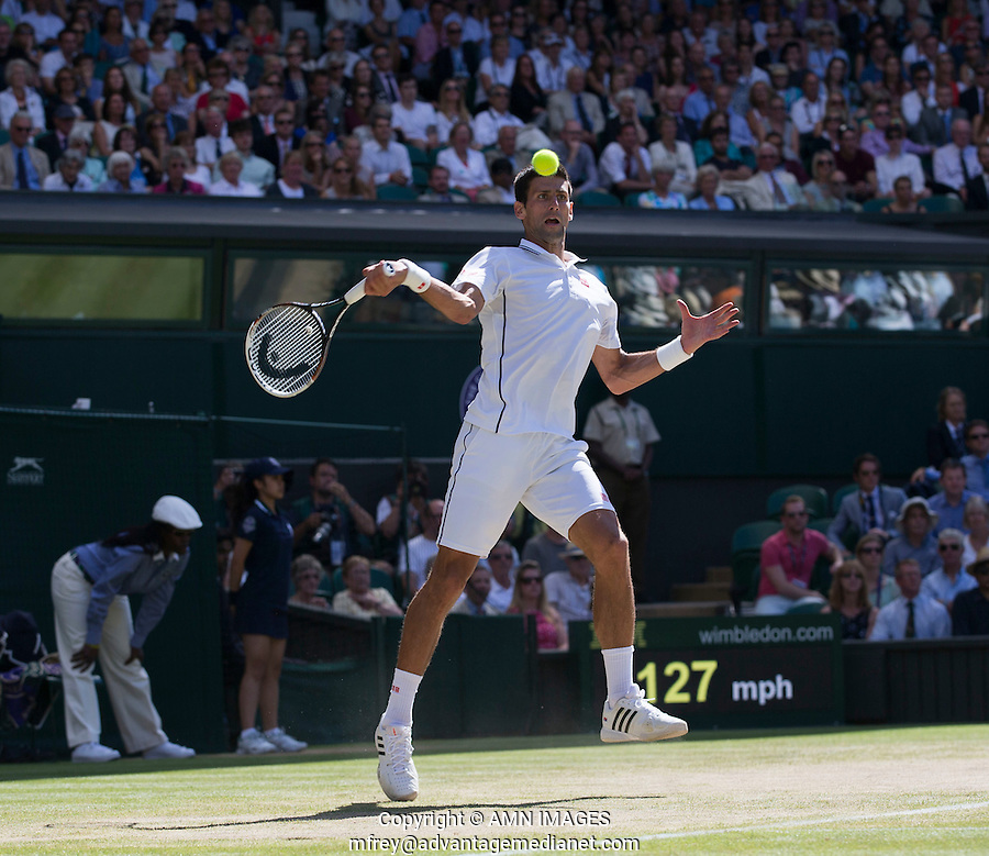 NOVAK DJOKOVIC (SRB)<br /> The Championships Wimbledon 2014 - The All England Lawn Tennis Club -  London - UK -  ATP - ITF - WTA-2014  - Grand Slam - Great Britain -  4th July  2014. <br /> <br /> &copy; AMN IMAGES