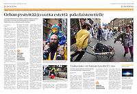Helsingin Sanomat (leading Finnish daily) on multiculture in Budapest, Hungary, April 2016<br />