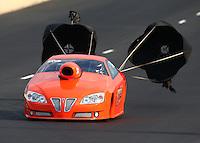 Jul. 19, 2014; Morrison, CO, USA; NHRA pro stock driver Steve Kalkowski during qualifying for the Mile High Nationals at Bandimere Speedway. Mandatory Credit: Mark J. Rebilas-