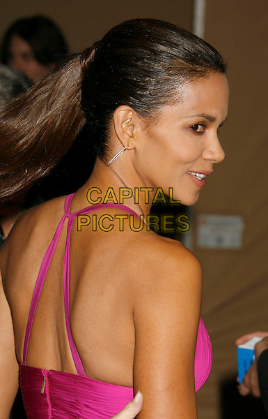 HALLE BERRY.The 2006 BAFTA/LA Cunard Britannia Awards held at the Century Plaza Hotel, Los Angeles, California, USA..November 2nd, 2006.Ref: ADM/RE.headshot portrait pink fuschia hoop earrings profile.www.capitalpictures.com.sales@capitalpictures.com.©Russ Elliot/AdMedia/Capital Pictures.