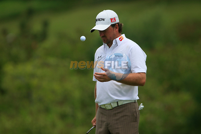Graeme McDowell (N.IRL) waits to putt on the 3rd green during the afternoon session on Day 2 of the Volvo World Match Play Championship in Finca Cortesin, Casares, Spain, 20th May 2011. (Photo Eoin Clarke/Golffile 2011)