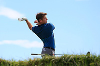 Action on the 12th tee during the Flogas Irish Amateur Open Championship 2019 at the Co.Sligo Golf Club, Rosses Point, Sligo, Ireland. 15/05/19<br /> <br /> Picture: Thos Caffrey / Golffile<br /> <br /> All photos usage must carry mandatory copyright credit (© Golffile | Thos Caffrey)
