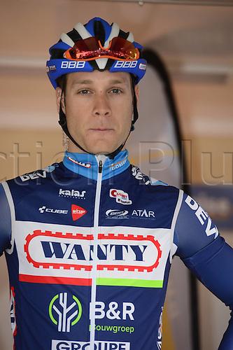 31.01.2016 Marseilles, France. Gp Ouverture La Marseillaise 2016. Wanty - Groupe Gobert rider Demoitie Antoine