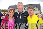 TRI-ATHLETES: Mags O'Sullivan, Conor Kearney and Mossie Leahy at the Tralee Triathlon Club Event in Fenit on Saturday..
