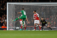 Wanderson of Ludogorets Razgrad (88) watches as his shot hits the post during the UEFA Champions League match between Arsenal and PFC Ludogorets Razgrad at the Emirates Stadium, London, England on 19 October 2016. Photo by David Horn / PRiME Media Images.