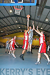 Tralee Tigers celebrate after defeating St Pauls in the Premier Mens Final at the St Marys Christmas Basketball Blitz which was held in the Castleisland Community Centre on Saturday