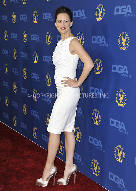 WWW.ACEPIXS.COM......February 2, 2013, Los Angeles, CA.....Jennifer Garner arriving at the 65th annual Directors Guild Of America Awards at The Ray Dolby Ballroom on February 2, 2013 in Hollywood, California.........By Line: Peter West/ACE Pictures....ACE Pictures, Inc..Tel: 646 769 0430..Email: info@acepixs.com