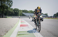 (eventual stage winner) Jos Van Emden (NED/LottoNL-Jumbo) out on the Autodromo Nazionale (Monza Race Circuit) for the closing time trial into Milano<br /> <br /> stage 21: Monza - Milano (29km)<br /> 100th Giro d'Italia 2017