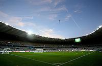 A general view of the Estadio Mineirao de Belo Horizonte during Germany training ahead of tomorrow's semi final vs Brazil