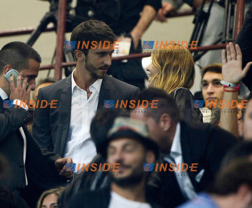 Lorenzo Guerrieri, Barbara Berlusconi<br /> Milano 20-09-2014 Stadio Giuseppe Meazza - Football Calcio Serie A Milan - Juventus. Foto Giuseppe Celeste / Insidefoto