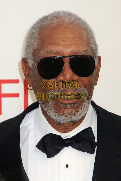 Morgan Freeman.40th Annual AFI Life Achievement Award Honoring Shirley MacLaine held at Sony Pictures Studios, Culver City, California, USA..June 7th, 2012.headshot portrait black white sunglasses  shades bow tie beard facial hair .CAP/ADM/BP.©Byron Purvis/AdMedia/Capital Pictures.