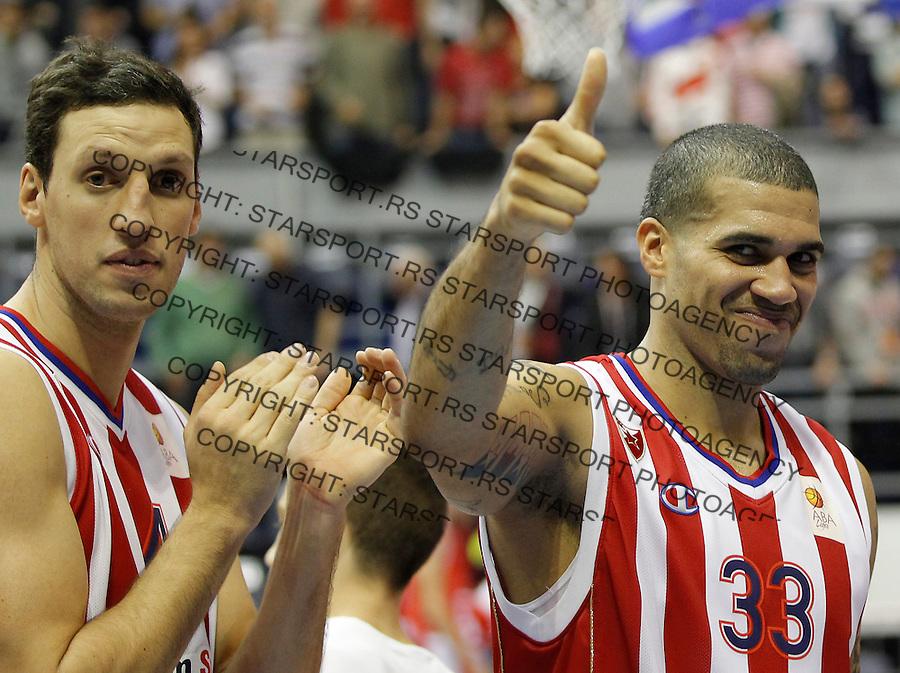 Kosarka ABA League season 2013-2014<br /> Crvena Zvezda v Radnicki (Kragujevac)<br /> Blake Schilb (R) and Ivan Radenovic (L)<br /> Beograd, 12.10.2013.<br /> foto: Srdjan Stevanovic/Starsportphoto &copy;